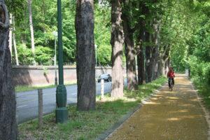 Avenue Van Praet laan fietspaden pistes cyclabes