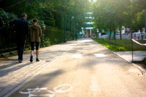 Cinquantenaire Jubelpark fietspaden pistes cyclables