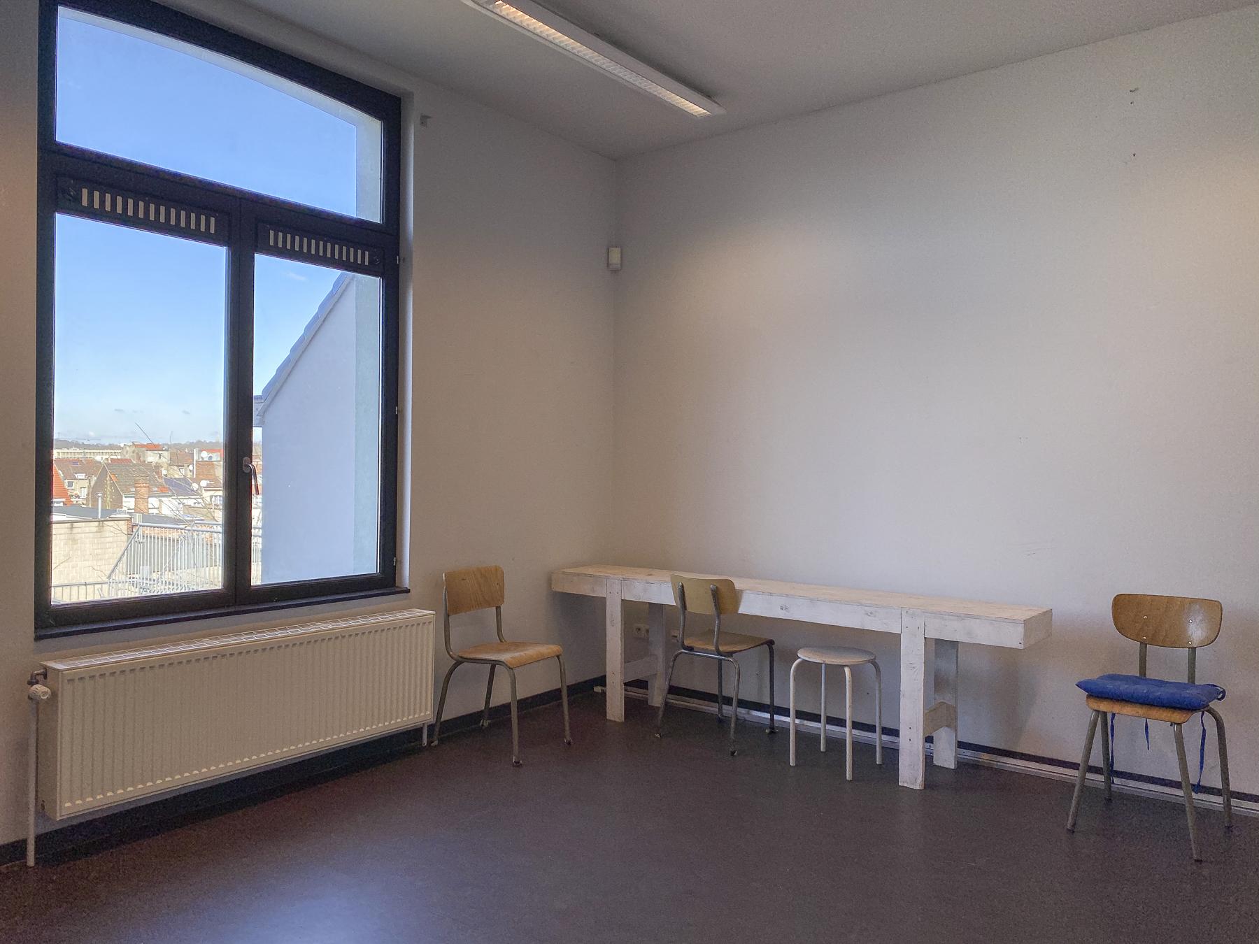 Gallait 80 atelier tweede verdieping tuinkant (c) Miles Fischler